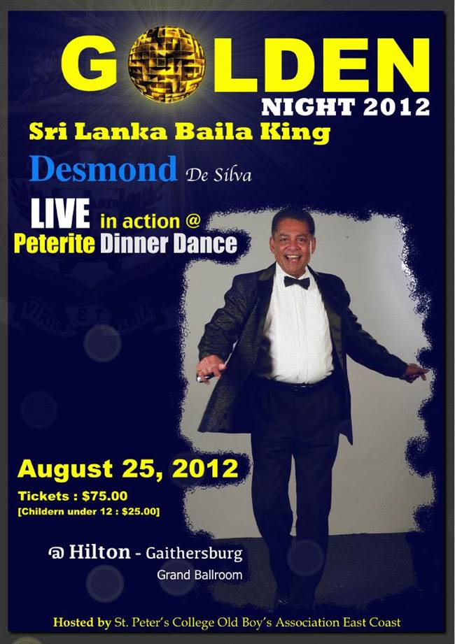 Desmond Live @ the Peterite Golden Night 2012
