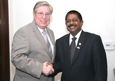 Mr. Curtis Mack and Ambassador Wickramasuriya