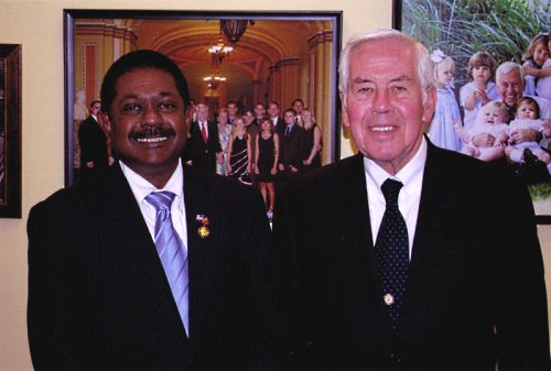 Ambassador Wickramasuriya and Senator Lugar