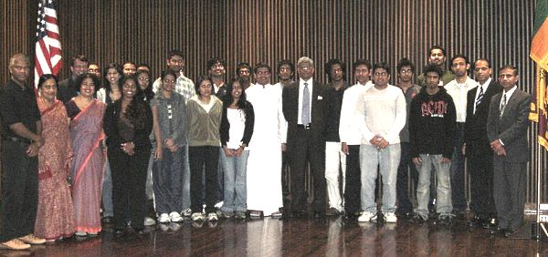 with students and faculty